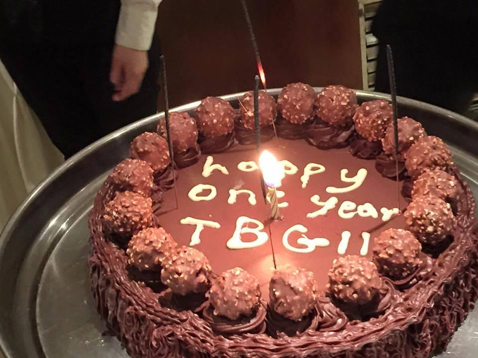 TBG birthday cake